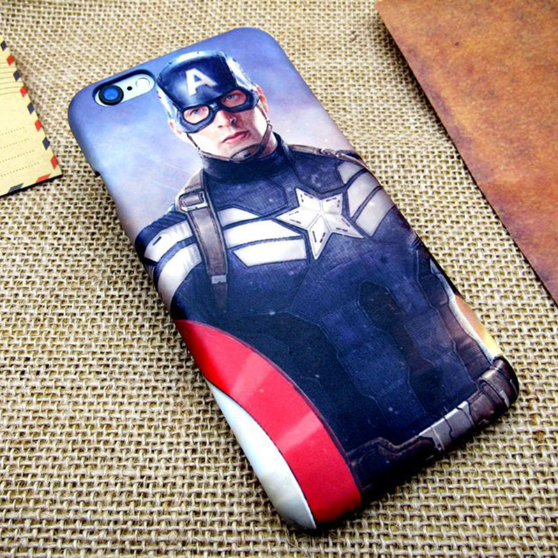 Popular new movie Captain America 3printing all-inclusive border fell slim hard plastic Phone bag case for iPhone 5S 6 6S Plus(China (Mainland))