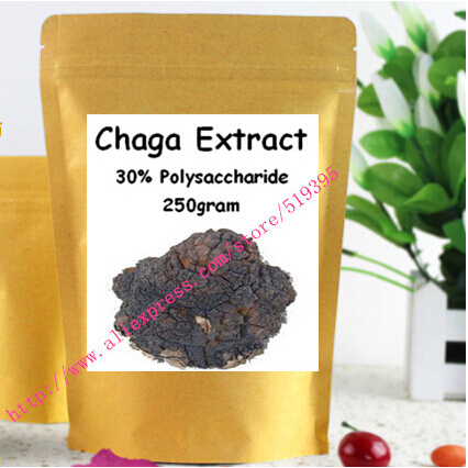 Hotsale 400gram High Quality Fungus Extract Chaga Extract Polysaccharide 30%  free shipping