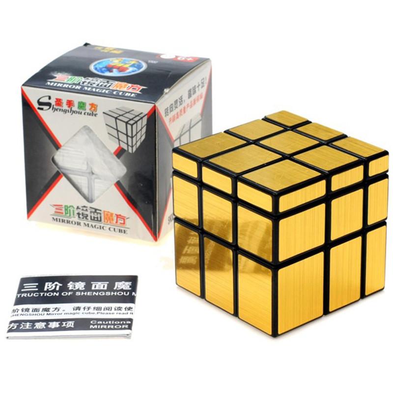 3x3x3 Shengshou Cool Magic Cubes Mirror Blocks Silver Shiny Cube Puzzle Brain Teaser IQ Kid Funny Hot Selling SA054 P15 0.5(China (Mainland))