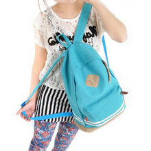 New Free Shipping Girl Women Cut Pig Nose Casual Candy Canvas Backpacks Student School Korean Travel