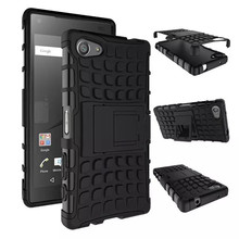 Z5 Compact Armor Case TPU&PC Heavy Duty Stand Cover Sony Xperia Cases E5803 E5823 Hybrid Coque - Emga Co., Ltd store