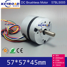 Circular Fuselage and Hall feedback 36V DC 4000rpm 57mm 23W 3 phase Brushless DC Motor(China (Mainland))