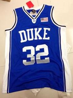 #32 CHRISTIAN LAETTNER CUSTOM NCAA DUKE BLUE DEVILS Retro Stitched Embroidery Logos Personalized Custom basketball Jerseys(China (Mainland))