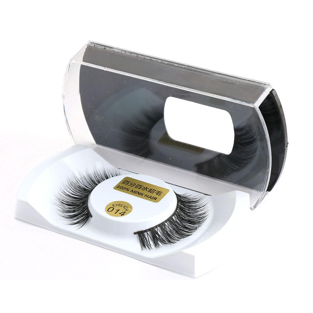 1 Pair 100% Real Mink Natural Thick False Fake Eyelashes Eye Lashes Makeup Extension Beauty Tools QLM