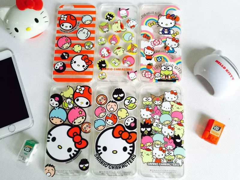 High quality sanrio cartoon hello kitty transparent phone cover case for Apple iphone 6plus 5.5inch / 6 4.7inch(China (Mainland))