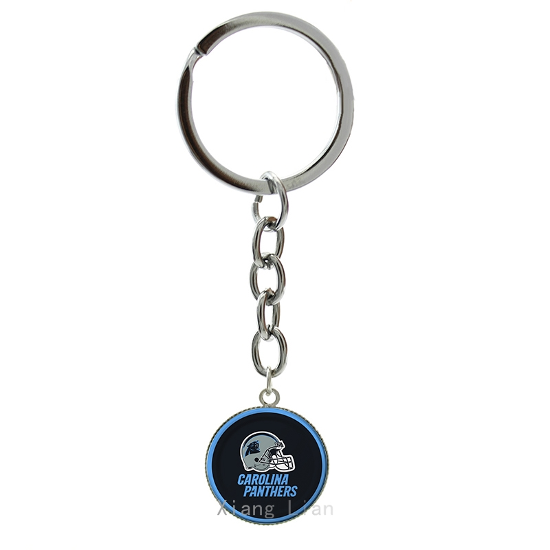 Cool ball fans jewelry case for Carolina panthers helmet Newest rugby NFL team keychain trendy football sport key chains NF026(China (Mainland))