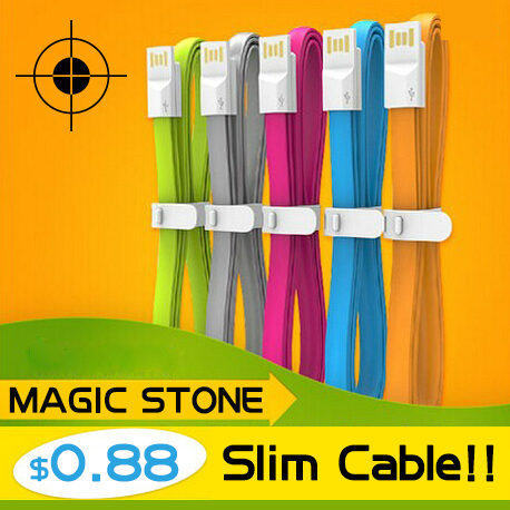 MS V8 Micro USB Data Charger Cable For Android Micro USB Cables Cell Phone 0.2M Colorful Noodle Flat Cable Wholesale(China (Mainland))