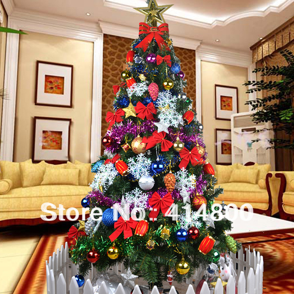 Luxury encryption christmas decoration 1 8 meters for 180 degrees christmas decoration