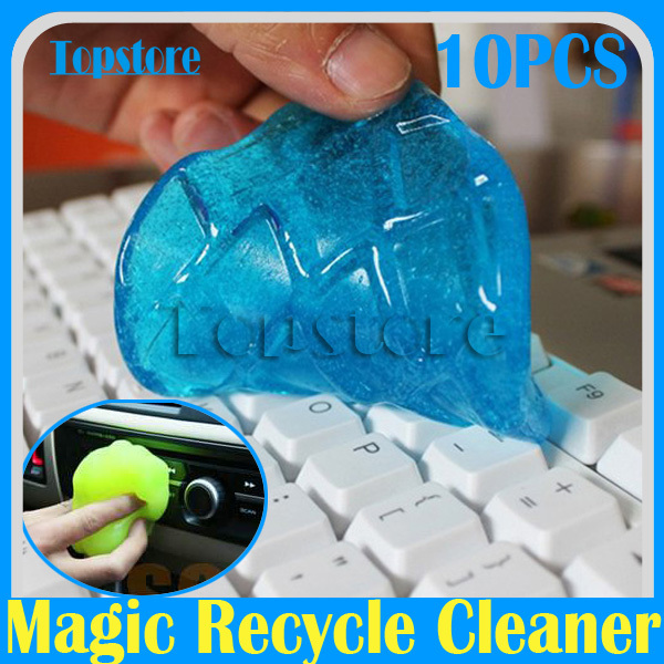 Free EMS Shipping 10pcs/lot Fashional Magic Dust Cleaning Slimy Compound Super Clean Clearner For Keyboard Laptop(China (Mainland))