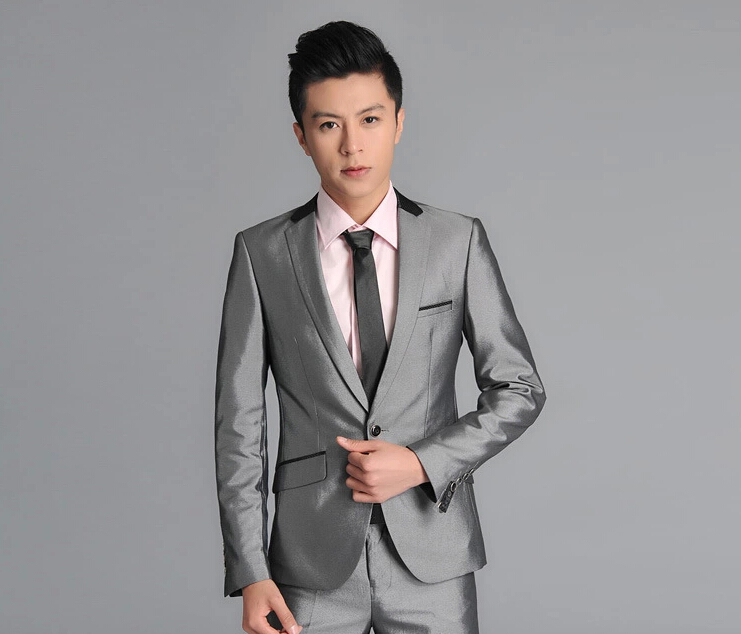 cotton Korean Slim silver wedding ceremony business casual suits buisness business dress for man suit men bussinessОдежда и ак�е��уары<br><br><br>Aliexpress
