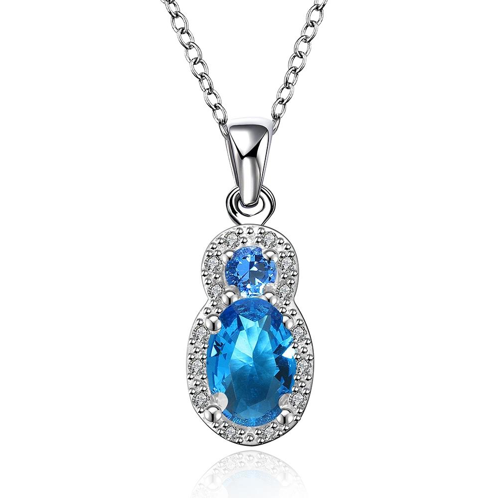 style 2 big blue created gemstone jewelry pendant