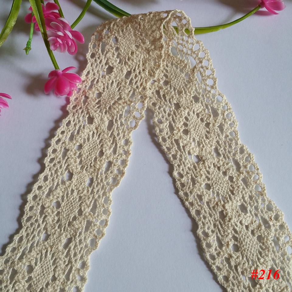 15 yards 40mm Cotton Lace Fabric Ivory White Crochet Lace Roll Ribbon Knit Adhesive Tape Sticker Craft Decoration Fabric NO216(China (Mainland))