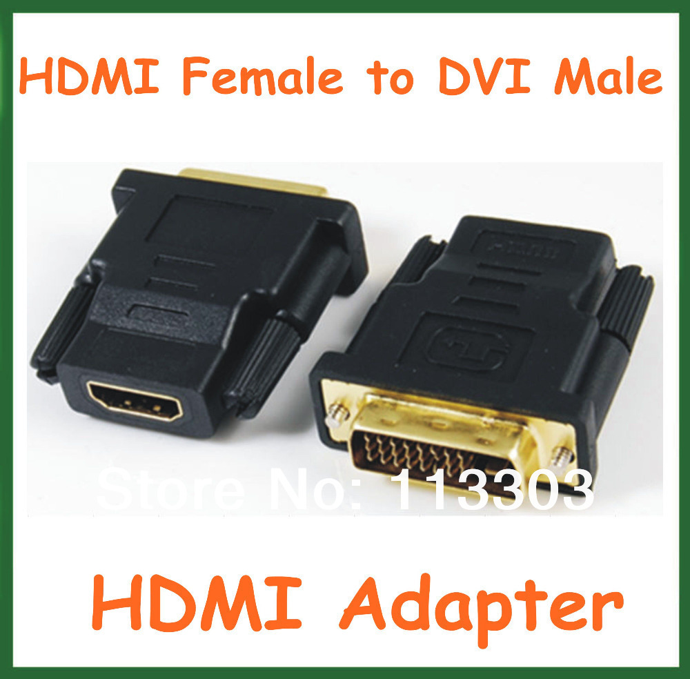 100pcs HDMI Female to DVI Male Adapter HDMI Extend Cable Converter Connector<br><br>Aliexpress