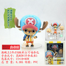 Free Shipping Anime One Piece Chopper PVC Action Figures Nendoroid chopper two years later Figure Toy KB0595