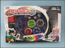 Free shipping! Classic toys beyblade metal fusion spinning top gyroscope 4 beyblade for sale alloy gyro plate kit beyblade sets(China (Mainland))