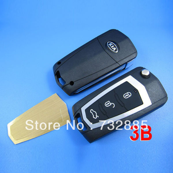 Promotion! Top quality KIA New Carens Modified Remote Key Shell 3 Button (With Battery Metal ) wholesale and Retail<br><br>Aliexpress