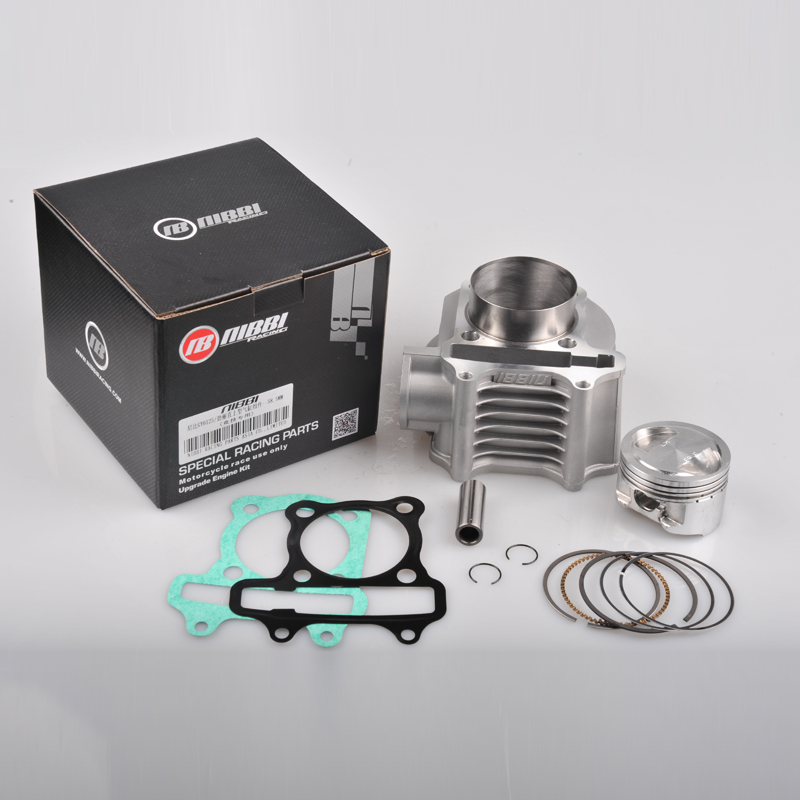 Nibbi Deluxe 58.5MM Cylinder Kit Head Piston Rings Gasket Set Scooter 150CC GY6(China (Mainland))