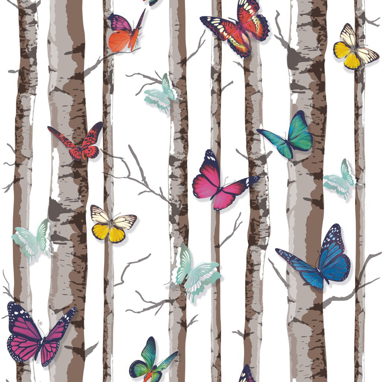 Buy decorative wallpapers tree mural for Butterfly mural wallpaper