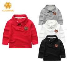 Buy Solid Kids T-Shirts Cotton Boys Girls Shirts Bear Embroidery Long Sleeve Boy Clothes Fashion Girl T-Shirt 2017 Children Clothing for $10.46 in AliExpress store