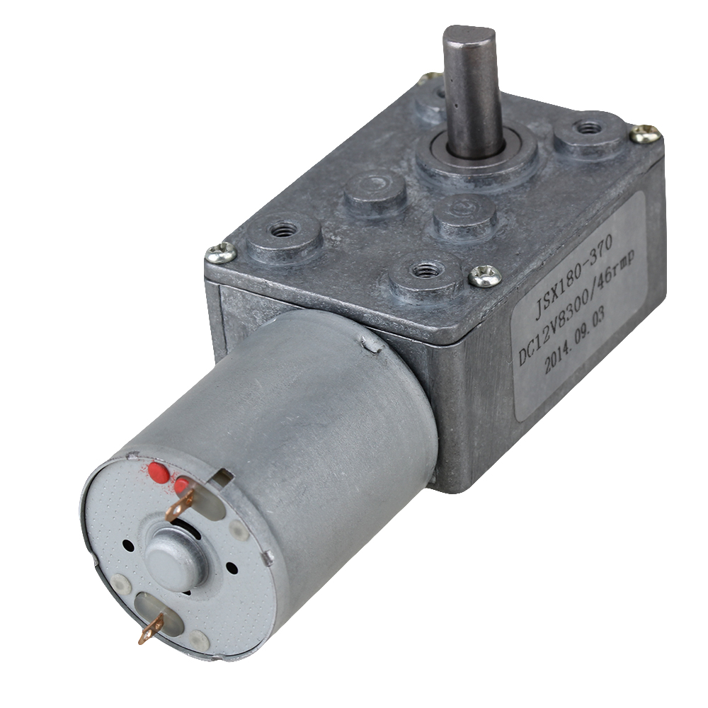 12v 46rpm Worm Turbo Gear Motor Right Angle Gear Dc Motor