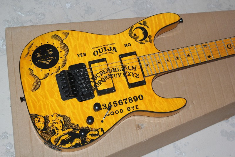 guitarra Take the initiative to pick-up Arrival yellow E$P Sun Electric Guitar KH-2 OUIJA Limited Edition Kirk Hammett Signature(China (Mainland))