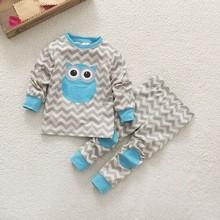 DHL EMS Free shipping 2016 New kacakid Baby Girls Boys 2pc pajamas Suit Cartoon Cute Children's sleepwear 6 pcs/lot 80-90-95(China (Mainland))