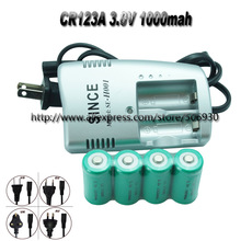 4x CR123A 3.0V 3V Rechargeable Li Battery CHARGER CR123(China (Mainland))