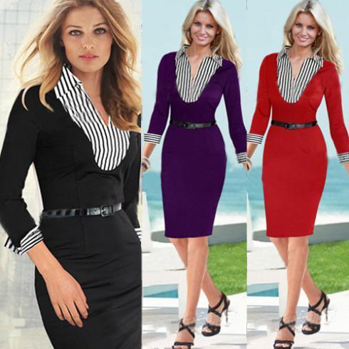 Großhandel Wholesale Uk Mode Damen Kleid 2015 Frauen Rüschen V ...