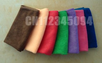 """Free Shipping 50pc/lot Ultra Absorbent 100% Microfiber Auto Car Cleaning Cloths Kitchen Dishcloths Towel 10""""*10"""""""