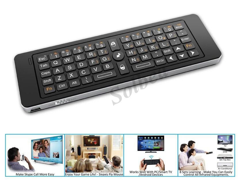 1pc 2.4GHz Rii Mini i13 MIC Speaker Wireless Keyboard With Air Fly Mouse For PC HTPC Smart Android TV Box SKYPE Game Keyboards<br><br>Aliexpress