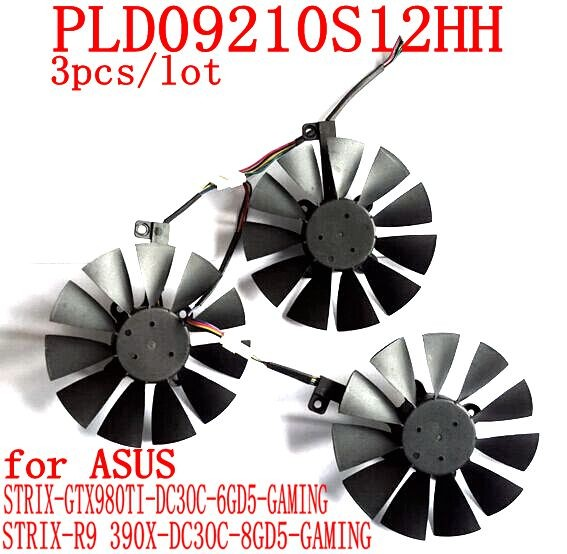 PLD09210S12HH/T129215SU 85MM Diameter Computer VGA cooler Video card fan for ASUS STRIX GTX1070 1080 graphics cards cooling(China (Mainland))