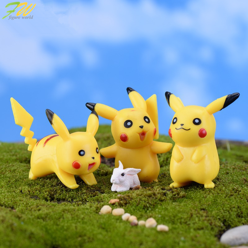 (6pcs/lot) Pokemon Pikachu miniature figurines toys cute lovely Model Kids Toy 5cm PVC japan anime children action figure160356(China (Mainland))