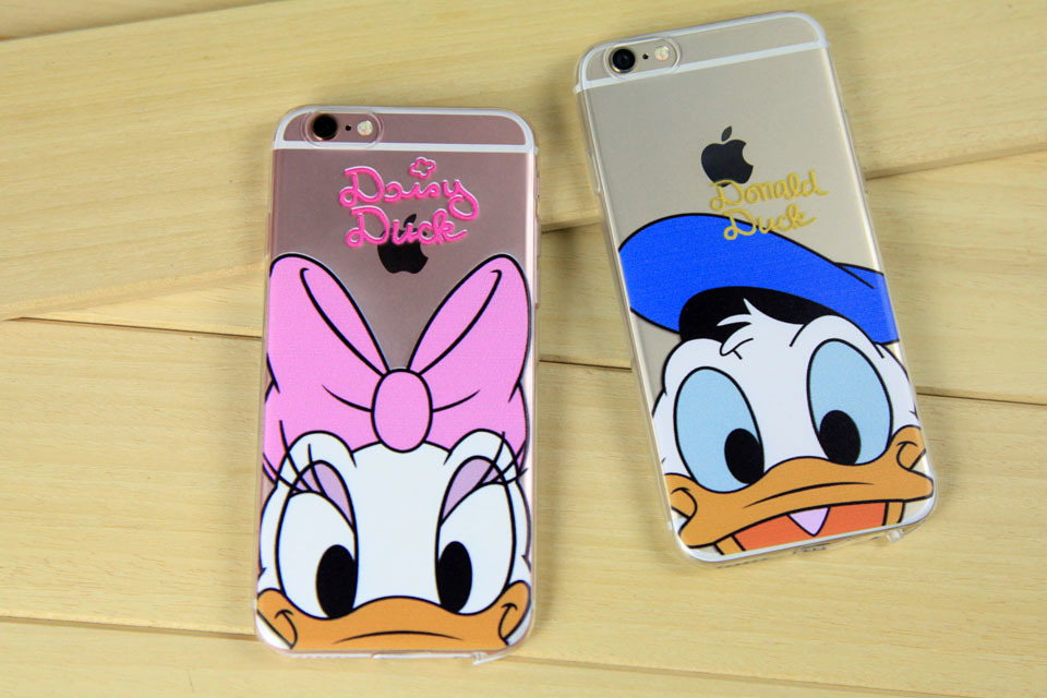 For iPhone 5 5s 6 6s Plus soft Gel Light TPU+IMD phone case Painted Mickey Minnie Winnie Piglet Silicone Crystal back cvoer(China (Mainland))