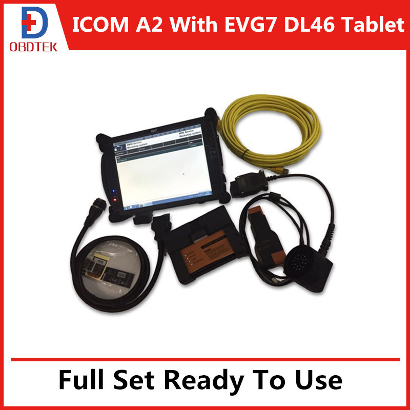 2015.6V Software with EVG7 DL46 Tablet PC Full Set Ready to Use For BMW ICOM A2+B+C(China (Mainland))