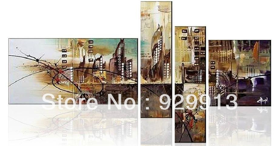 Abstract City Canvas Art Painting City Canvas Art
