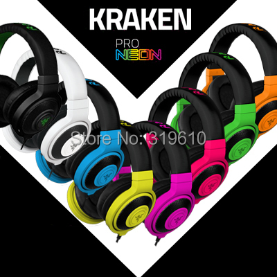 Razer Kraken Pro Gaming Headset, Brand New, Gaming Headphone With Microphone, Without Retail Box, Fast& Free shipping, In stock.(China (Mainland))