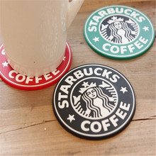 new hot creative Starbucks vinyl cup mat  silicone round coaster coffee placemat cushion pad tableware for kitchen free shipping(China (Mainland))
