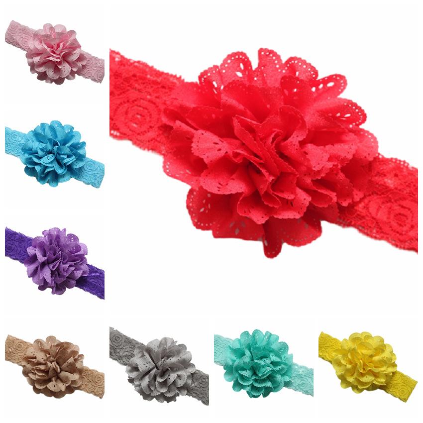 2016 Hollow Handmade Flower Baby Headband hair ribbon ornaments elastic newborn headbands children girls hair accessories(China (Mainland))