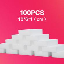 Buy 100PCS Melamine Sponge White Magic Nano Sponge High density Dish Bathroom Clean Eraser Kitchen Cleaning Accessories Wholesale for $3.00 in AliExpress store