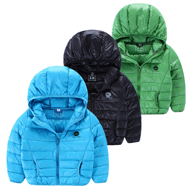 2016 Winter Hooded kids down jacket for boys font b girls b font Down Parkas Fashion