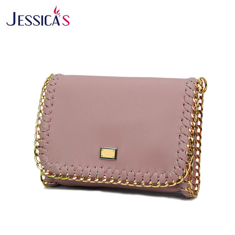 2016 High Quality Designer Leather Messenger Bags for Women Mini Flap Bags Metal Chain Weave Shoulder Bags Female Crossbody Bags