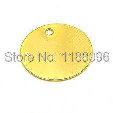 Wholesale and retail Low price High quality Blank Smooth Round Stamping Coin Charms Hole Plated Brass Metal hl50191(China (Mainland))