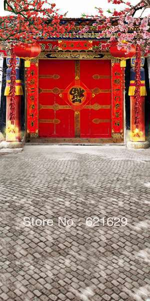 Courtyard gate 10x20 CP Computer-painted Scenic Photography Background Photo Studio Backdrop  DT-LP-0205<br><br>Aliexpress