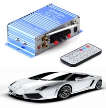 12v Hi-Fi Mini Digital Motorcycle Auto Car Super Bass Stereo Power Amplifier Sound Enlarger Audio Music  Player auto amplifier~(China (Mainland))