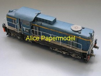 [Alice papermodel]1:87 two type Electric locomotive model train models