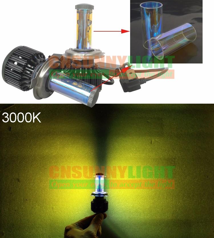 New H4 CREE LED Motorcycle Headlight Bulb 4000LM 40W HiLo 20W Low Beam Conversion Kit 3000K 4300K 6000K DC 12V P43T Headlamp (2)