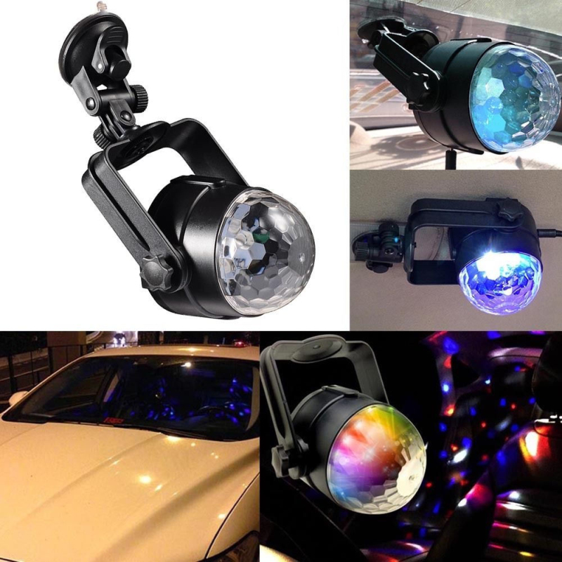 Auto USB Disco DJ RGB LED Light Lamp Car Strobe Stage Party Bar Music Active Atmosphere Decoration Bulb(China (Mainland))