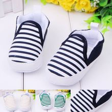 baby boy first walkers fashion striped canvas baby shoes(China (Mainland))