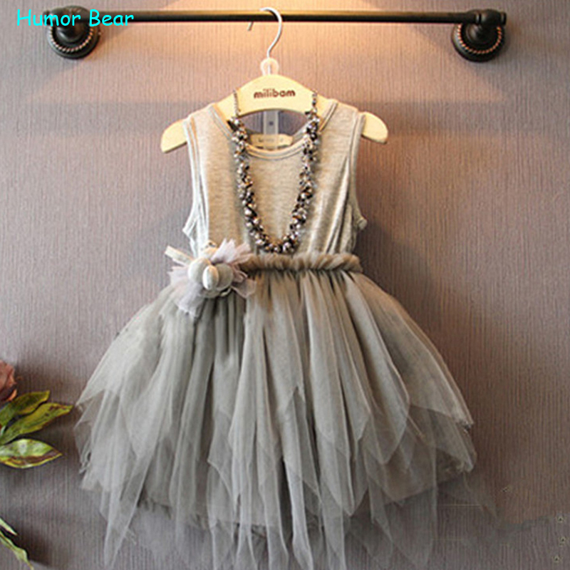 Humor Bear 2015 Summer Baby Girl Toddler Lace Clothing Dress For Infant Floral Princess Dress Children's Dresses kids Clothing(China (Mainland))