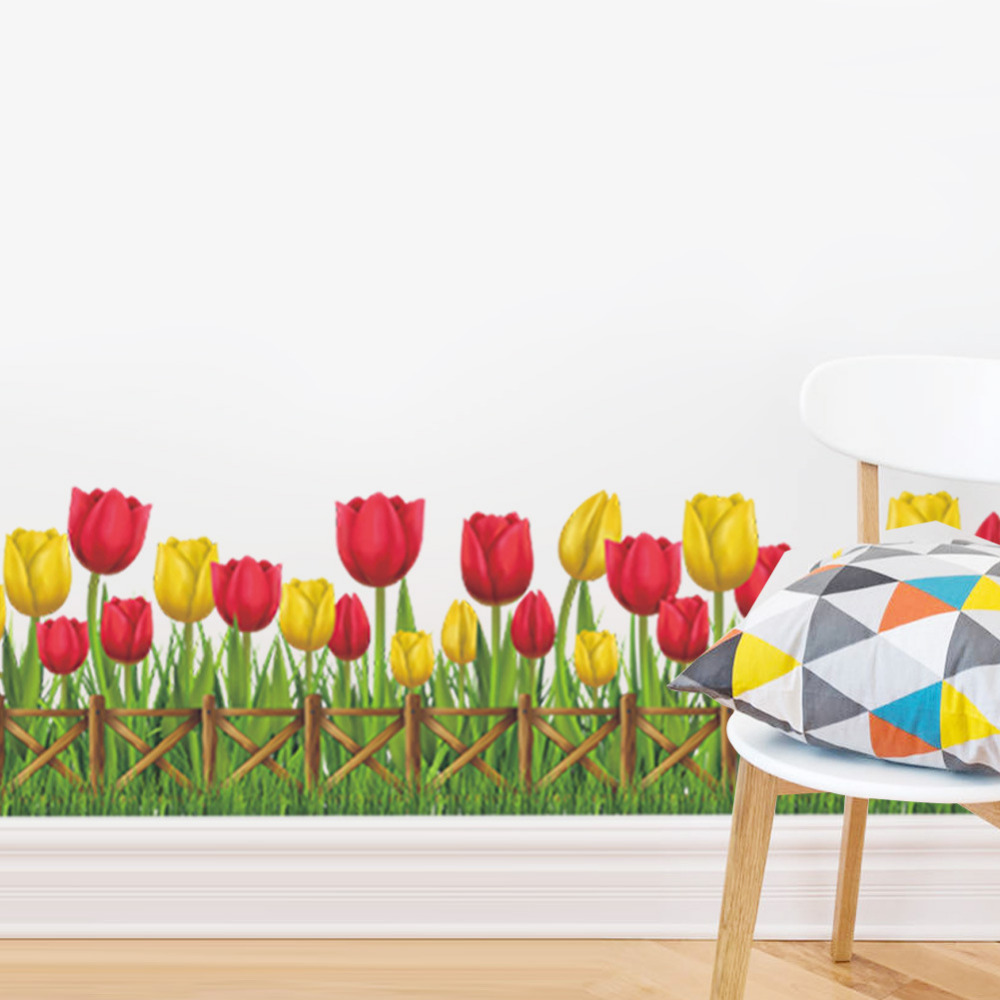 tulip border wall stickers - photo #8